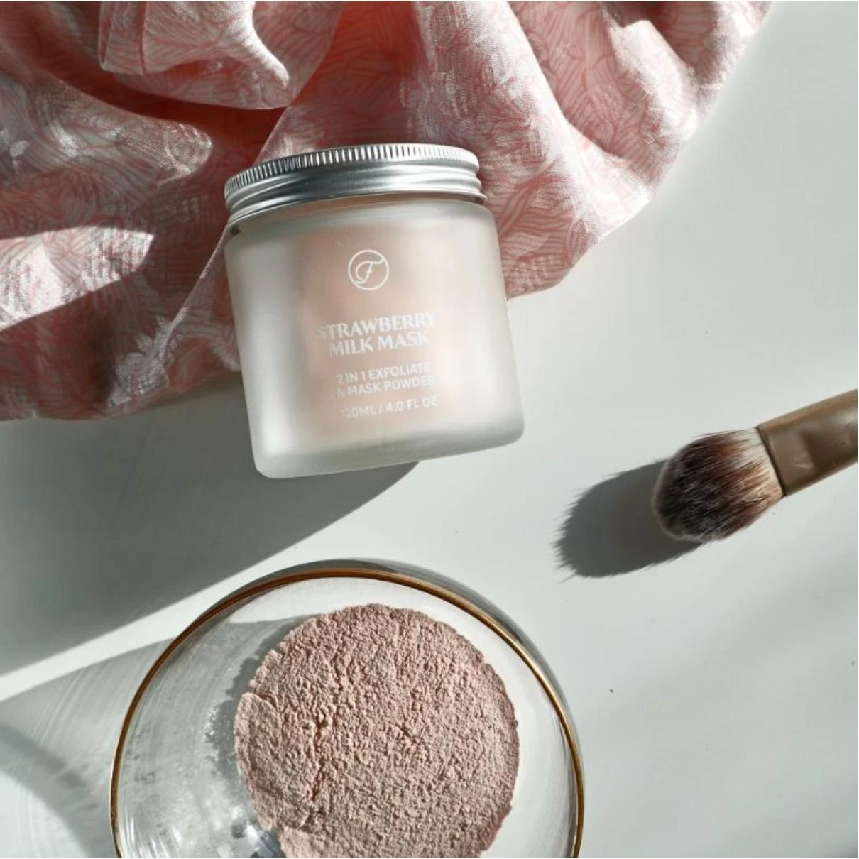 Strawberry Milk Mask -2 in 1- Flow Cosmetics-2