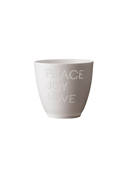 Candle holder - Peace Joy & Love
