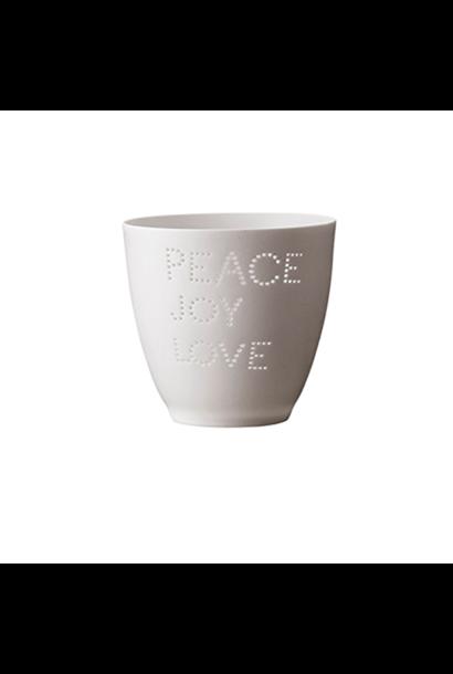 Theelichthouder - Peace Joy & Love