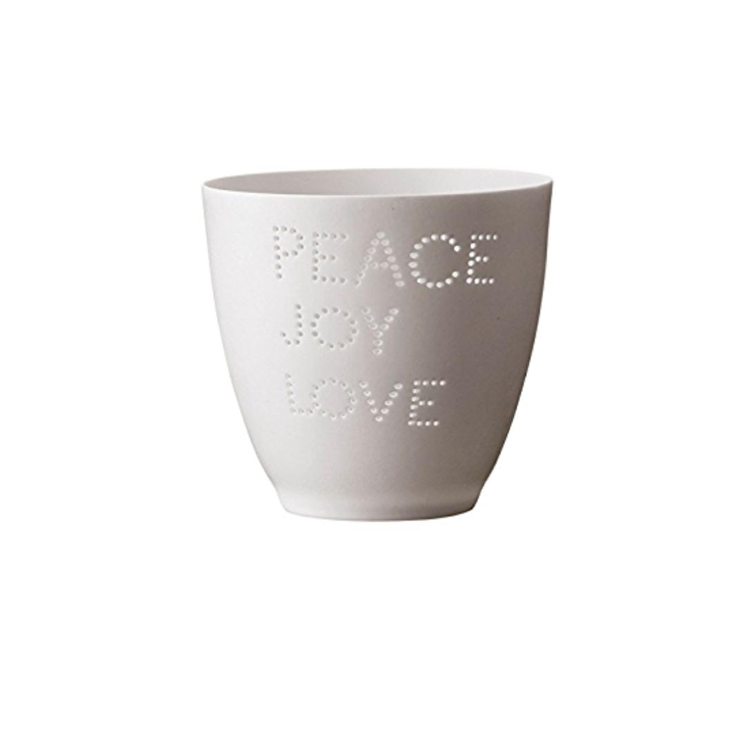 Theelichthouder - Peace Joy & Love - Bloomingville-1