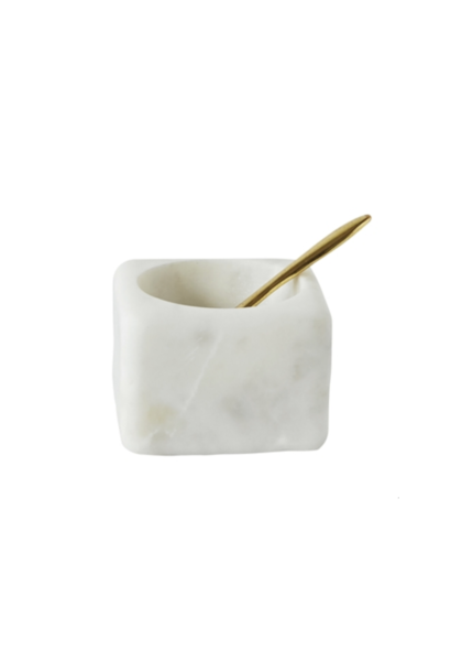Marble Salt Jar With Spoon