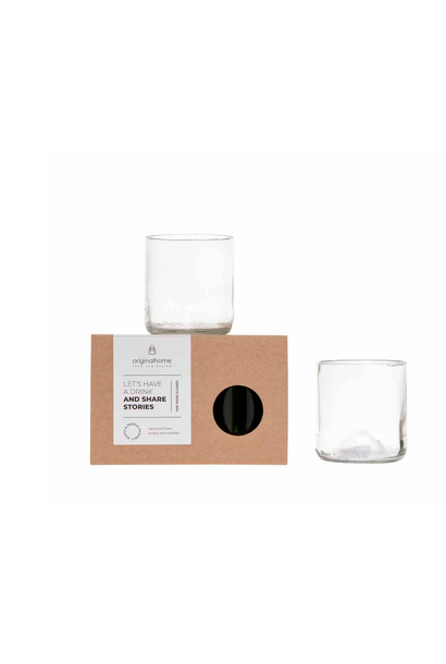 Set Glass Transparent S - Recycled