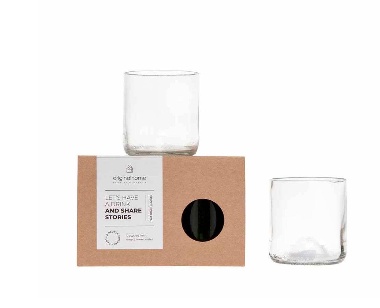 Set Glas Transparant S - Gerecycleerd - Original Home-1