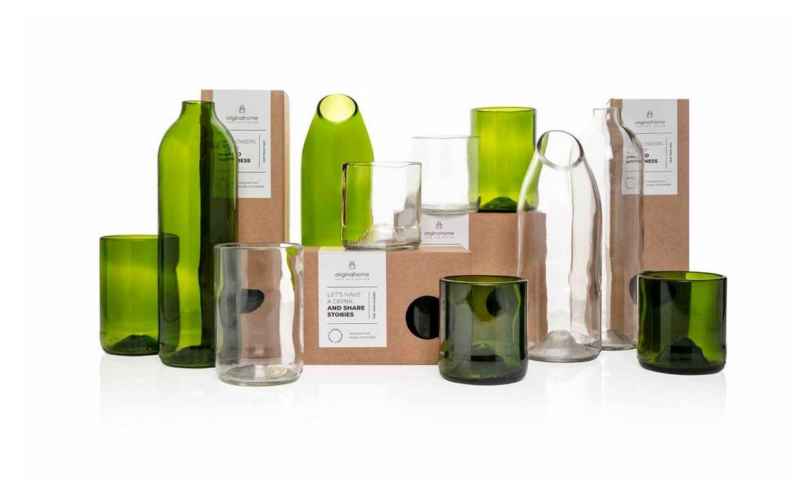 Set Glas Transparant S - Gerecycleerd - Original Home-3