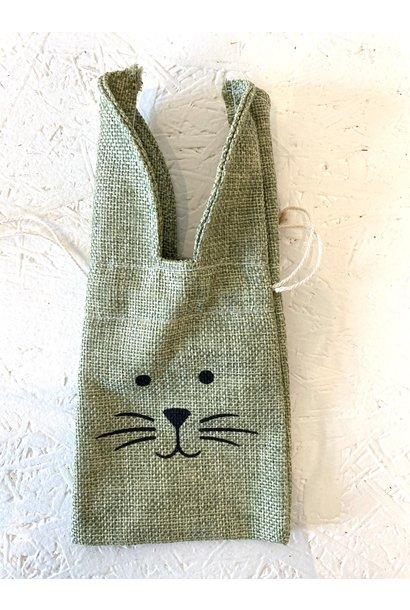 Jute Bag Rabbit - Green