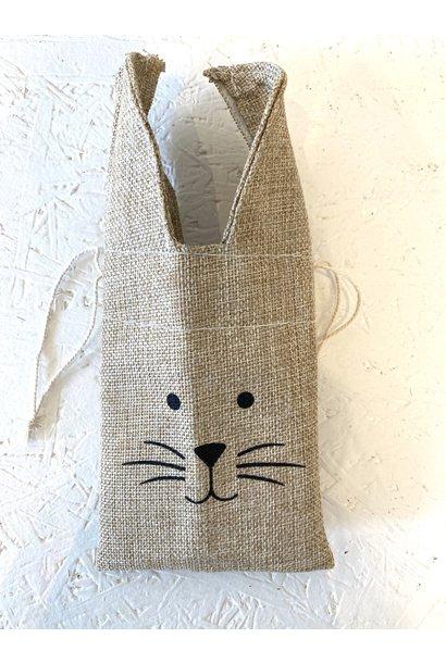 Jute Bag Rabbit - Beige