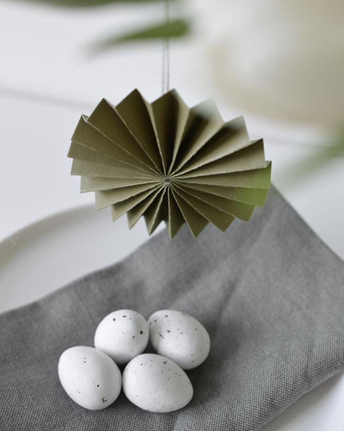 Papieren Ornament Mosgroen - Delight Department-2