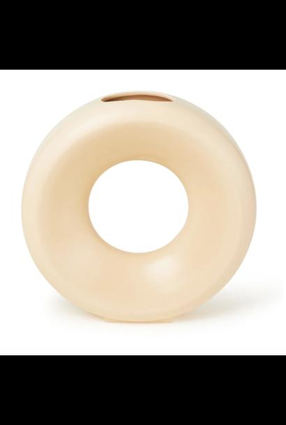 Ceramic Circle Vase Sand - L