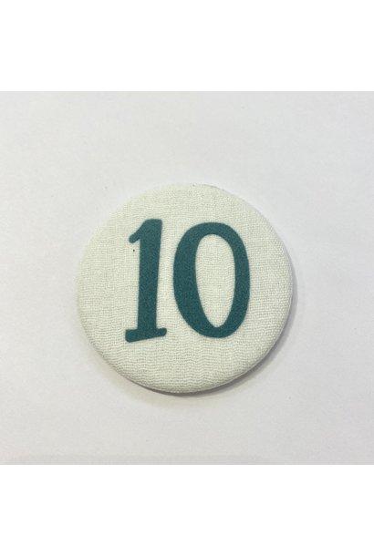 Cijferknop 10 Groen