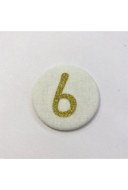 Cijferknop 6 Goud