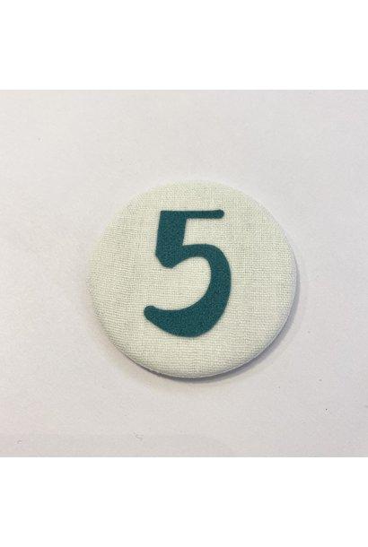 Cijferknop 5 Groen
