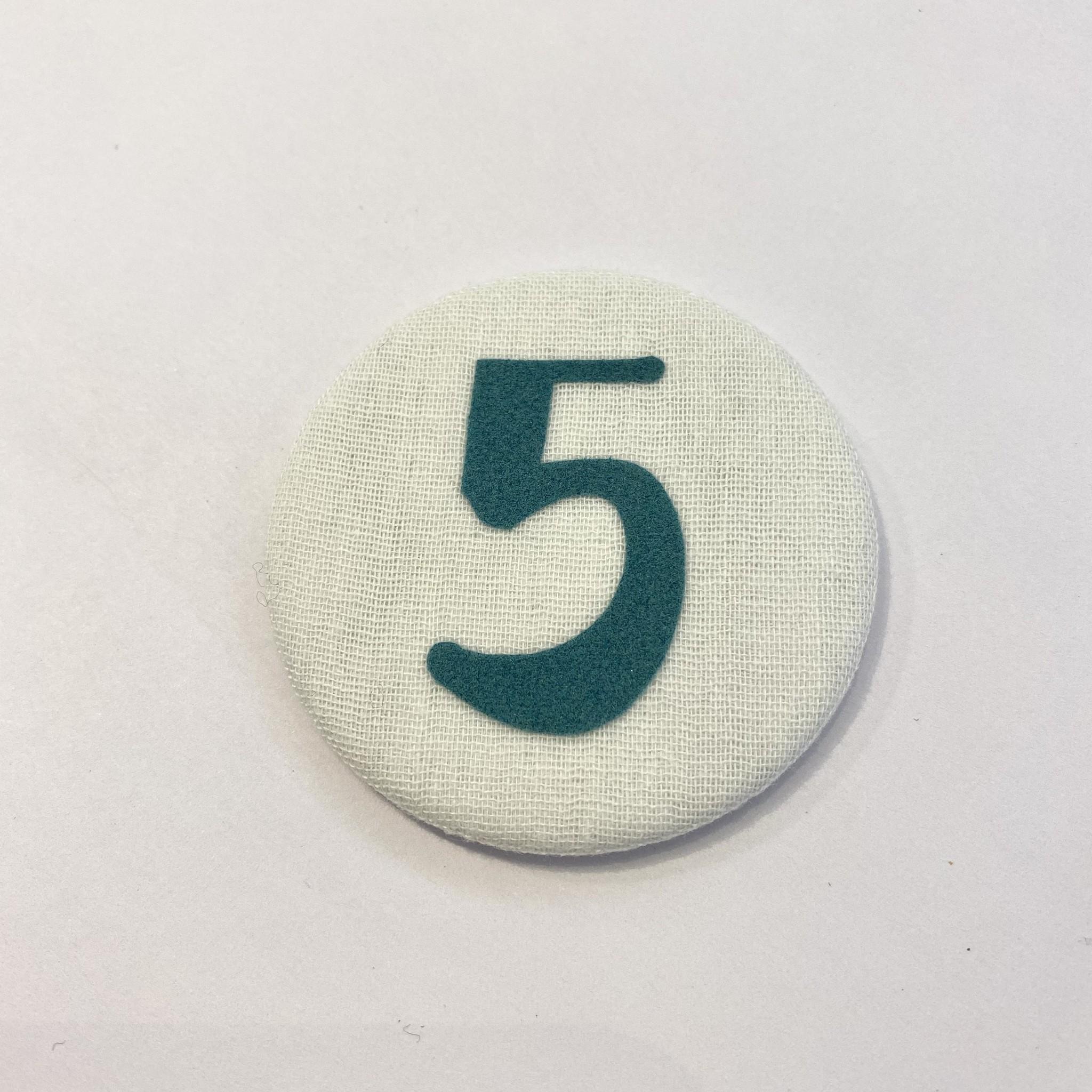 Cijferknop 5 Groen - Liezelijn-1