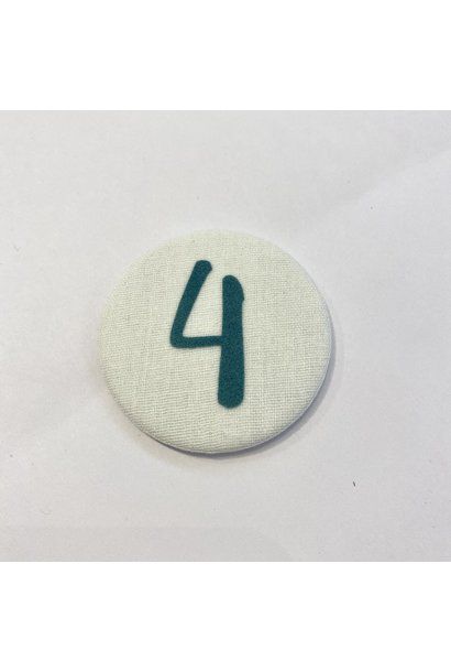 Cijferknop 4 Groen