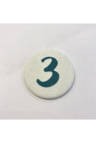 Cijferknop 3 Groen