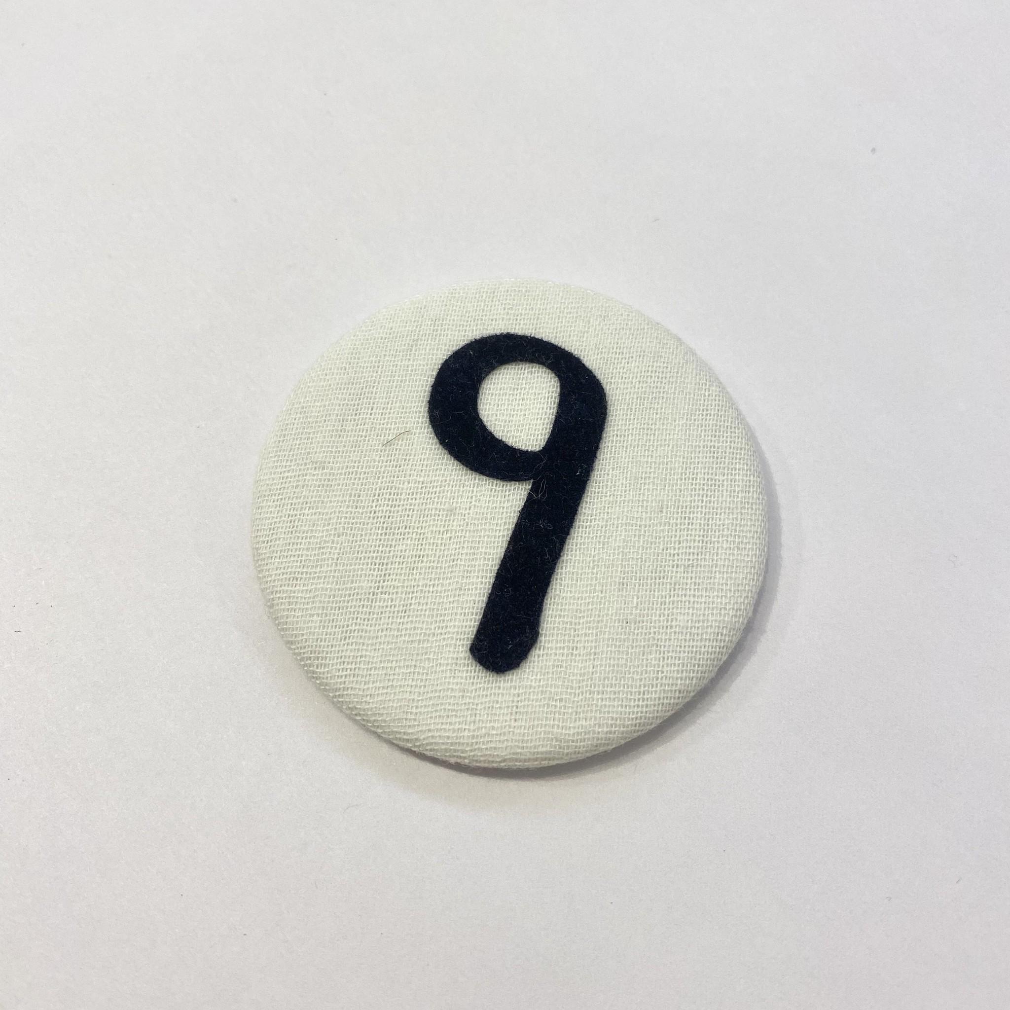 Cijferknop 9 Donkerblauw - Liezelijn-1