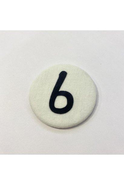 Number button 6 Dark blue