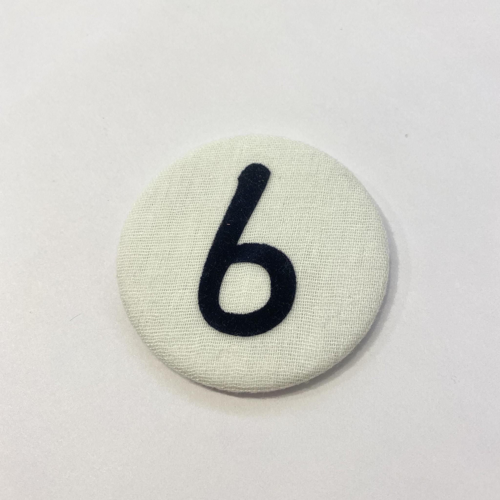 Cijferknop 6 Donkerblauw - Liezelijn-1
