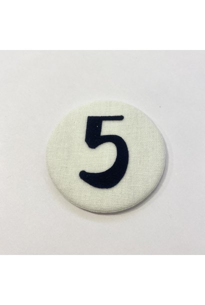 Cijferknop 5 Donkerblauw