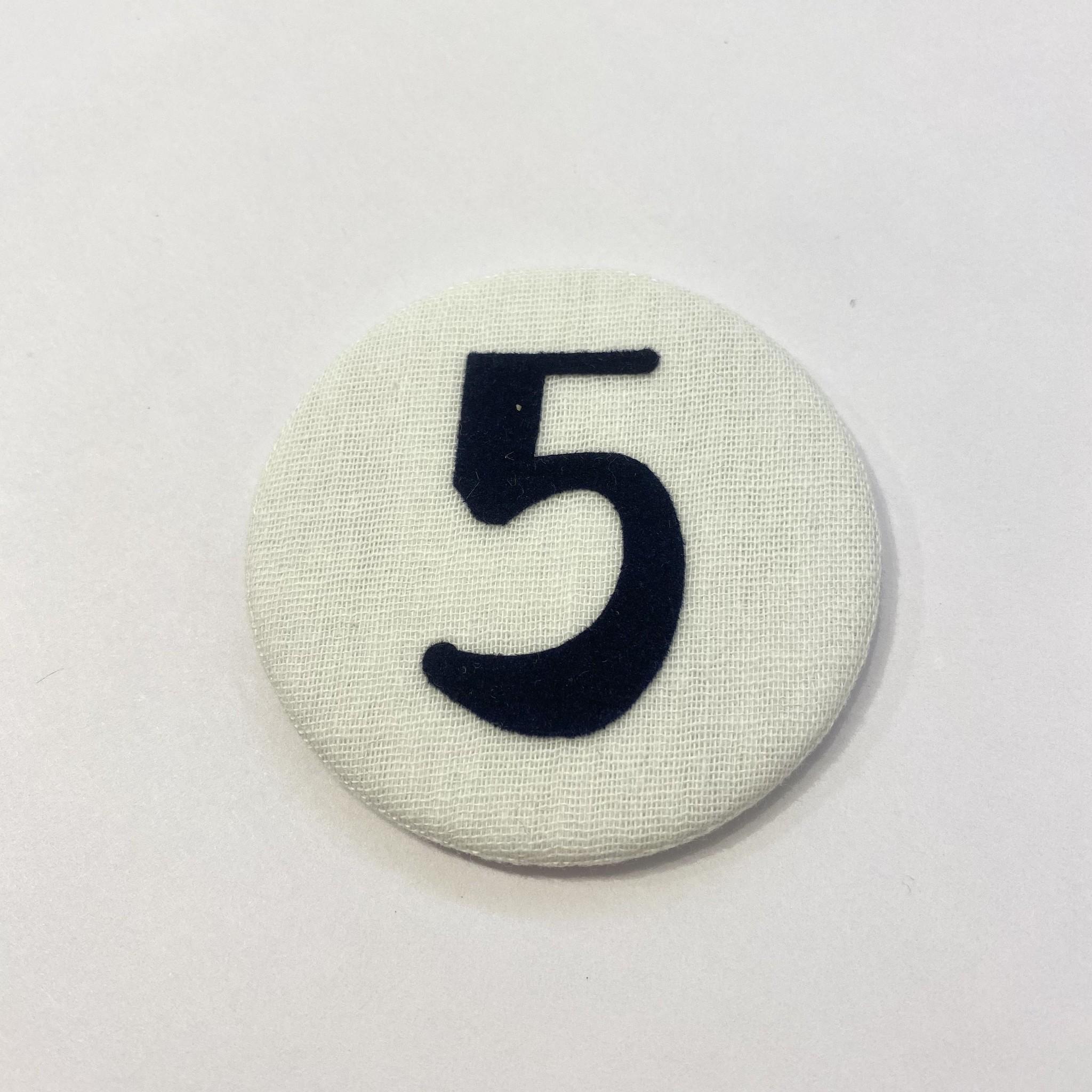 Cijferknop 5 Donkerblauw - Liezelijn-1