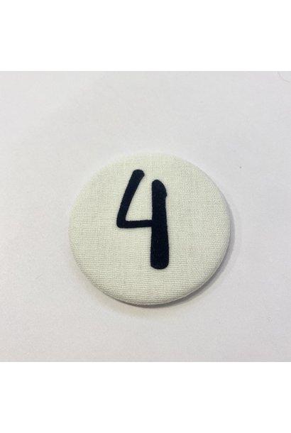 Number button 4 Dark blue