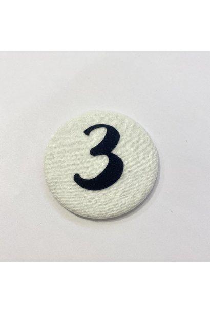 Number button 3 Dark blue