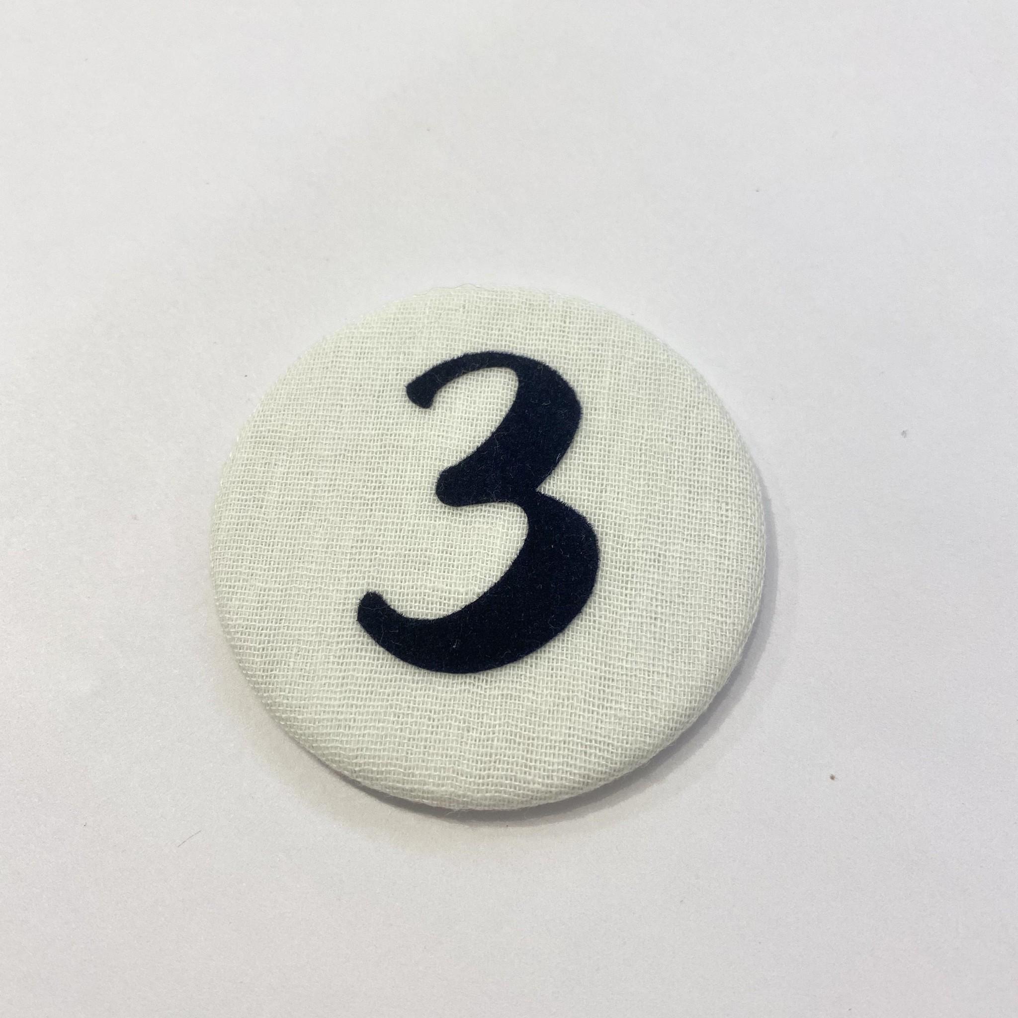 Cijferknop 3 Donkerblauw - Liezelijn-1