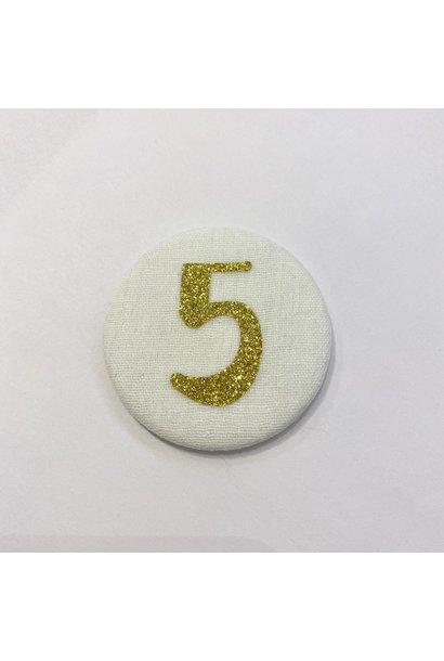Cijferknop 5 Goud