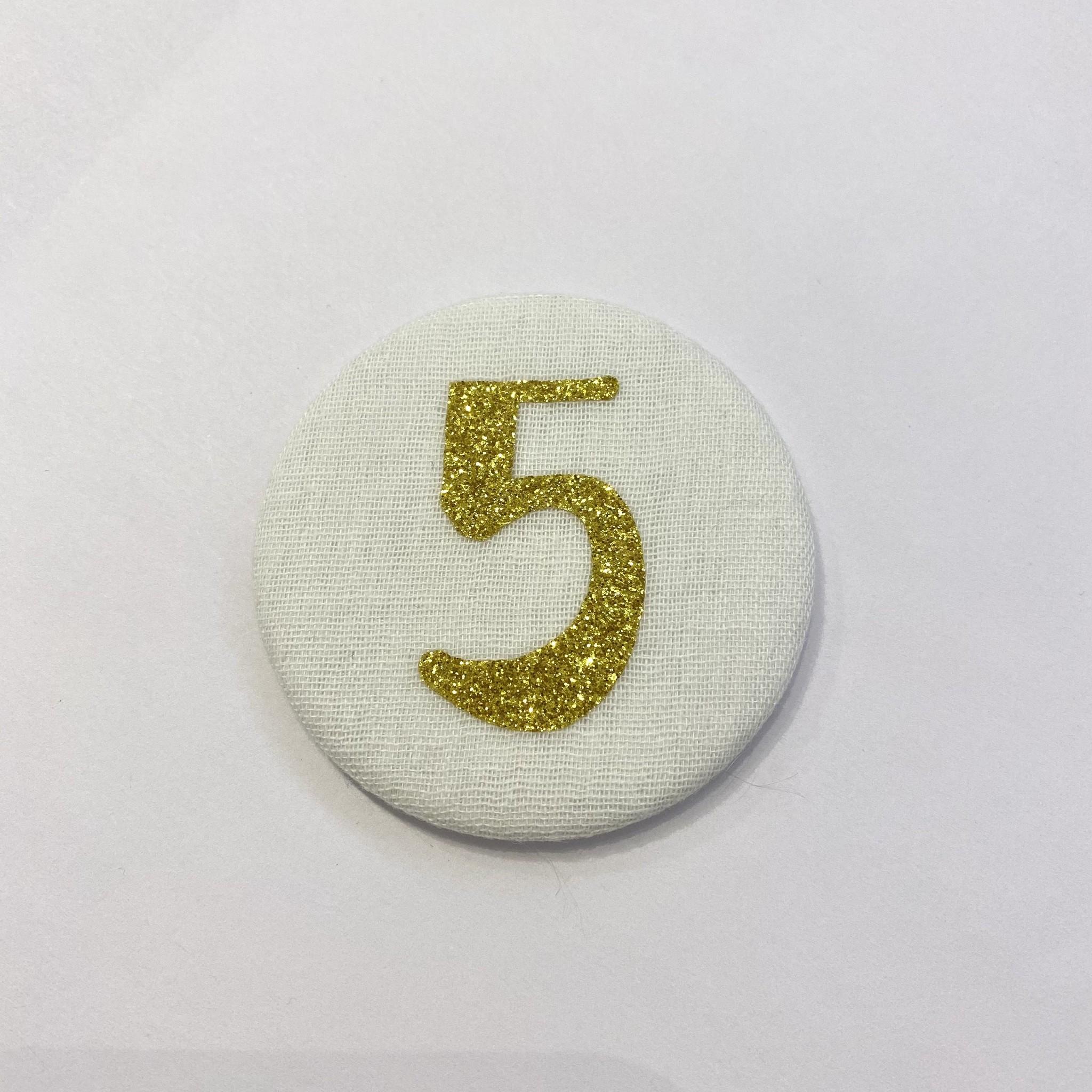 Cijferknop 5 Goud - Liezelijn-1