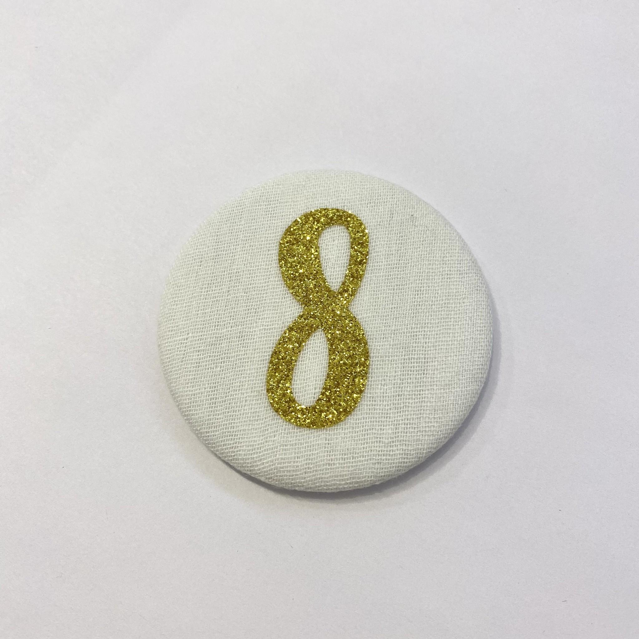 Cijferknop 8 Goud - Liezelijn-1