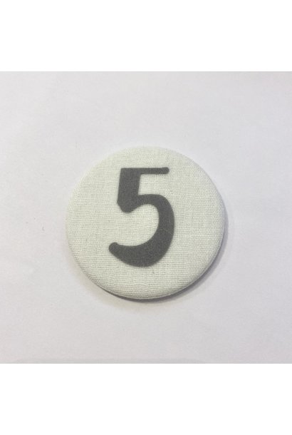Number Button 5 Grey