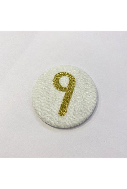 Cijferknop 9 Goud