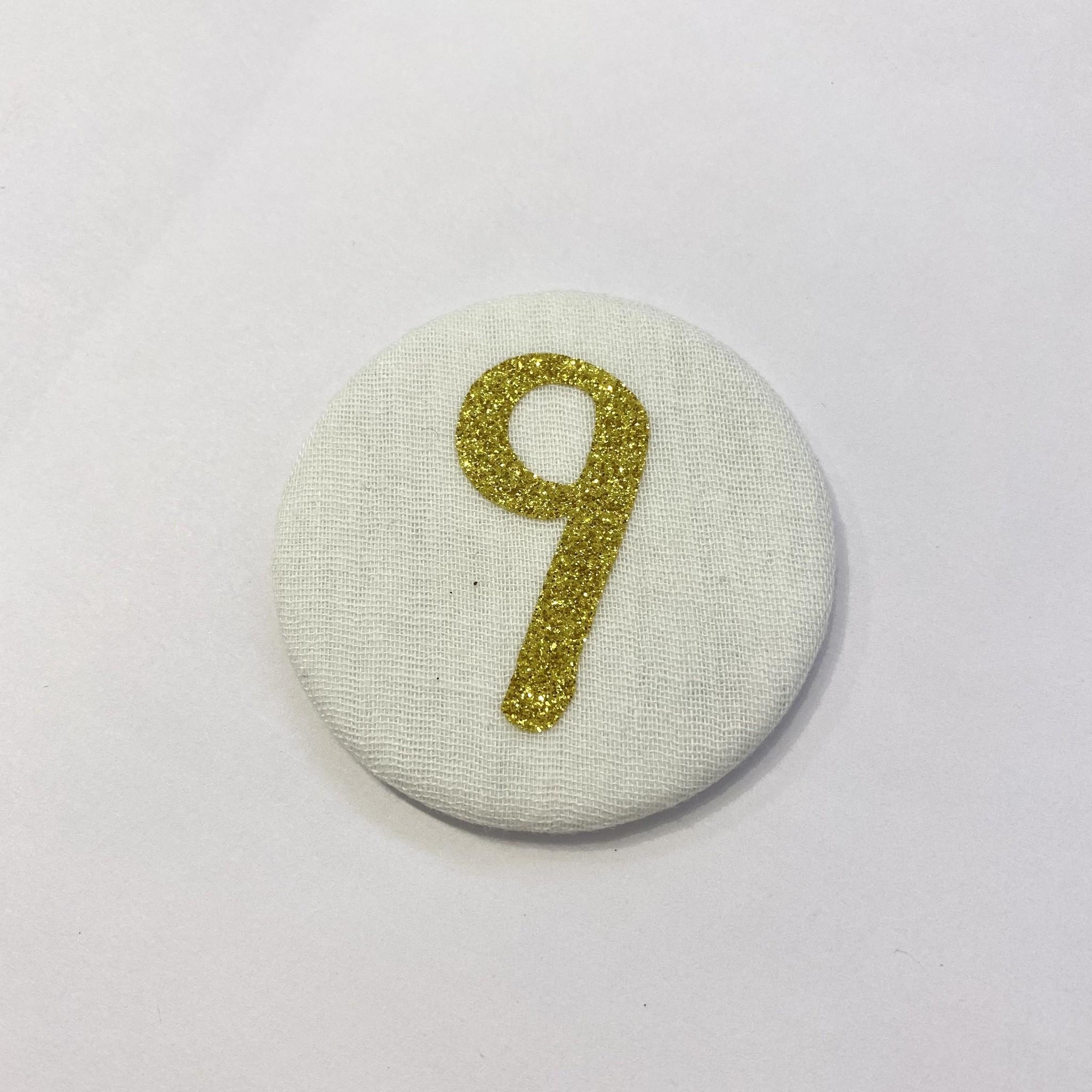 Cijferknop 9 Goud - Liezelijn-1