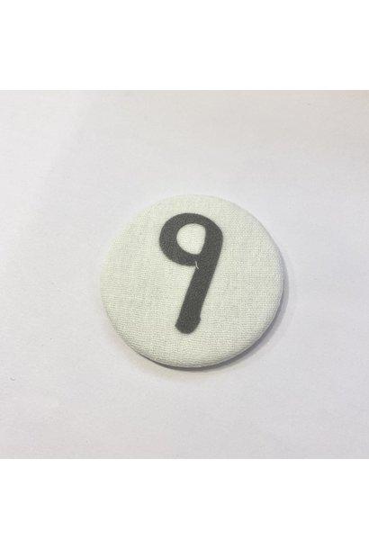 Cijferknop 9 Grijs
