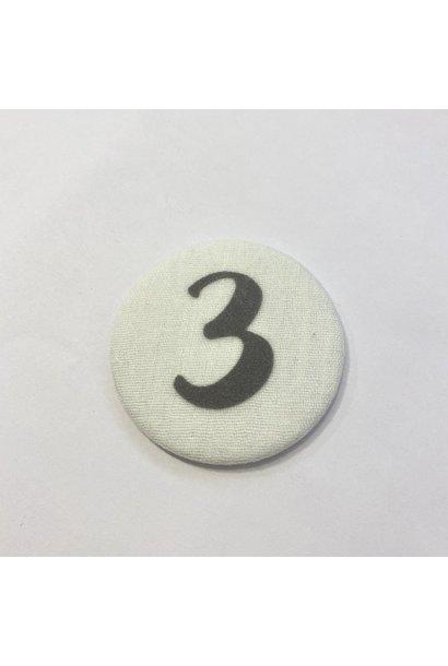 Cijferknop 3 Grijs