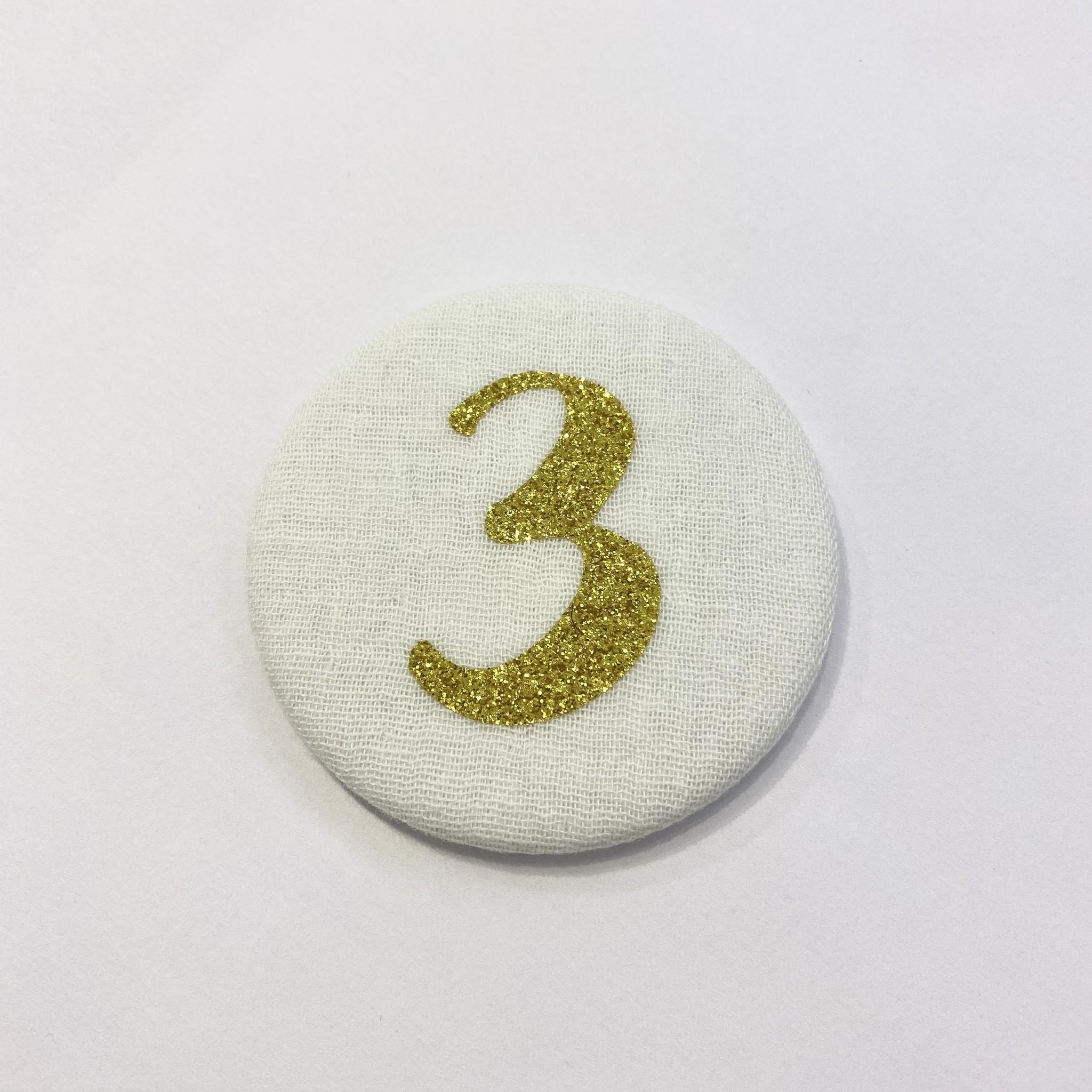 Cijferknop 3 Goud - Liezelijn-1