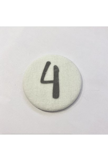 Number Button 4 Grey