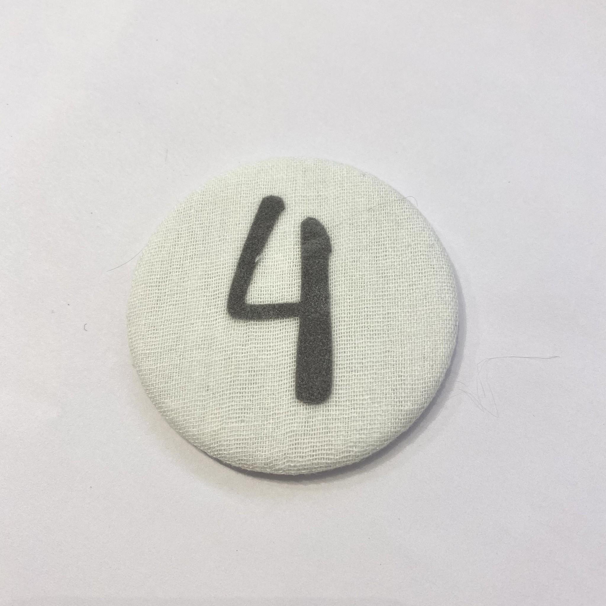 Cijferknop 4 Grijs - Liezelijn-1
