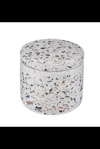 Terrazzo Storage Jar Round