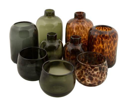 Vaas Glas Zwart - Mrs BLOOM-2