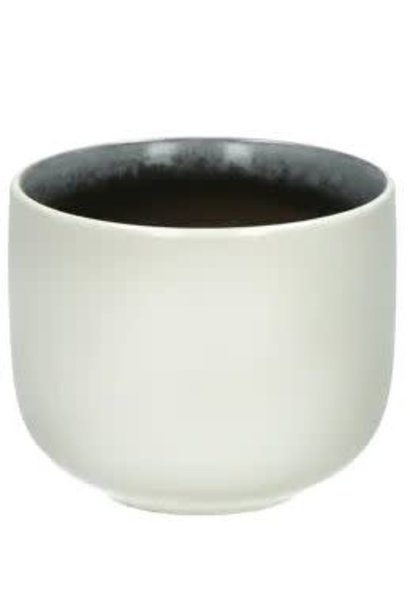 Mug Iris White - Taupe