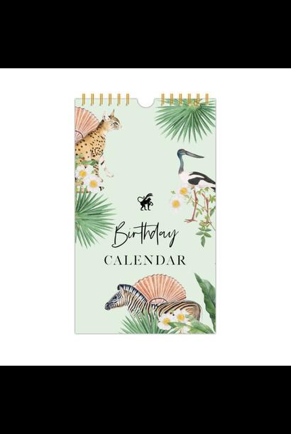 Birthday Calendar Jungle