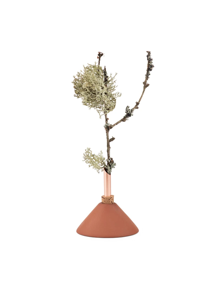 Glazen Vaasje Triangel - Terracotta Small - Scandinavia Form-1