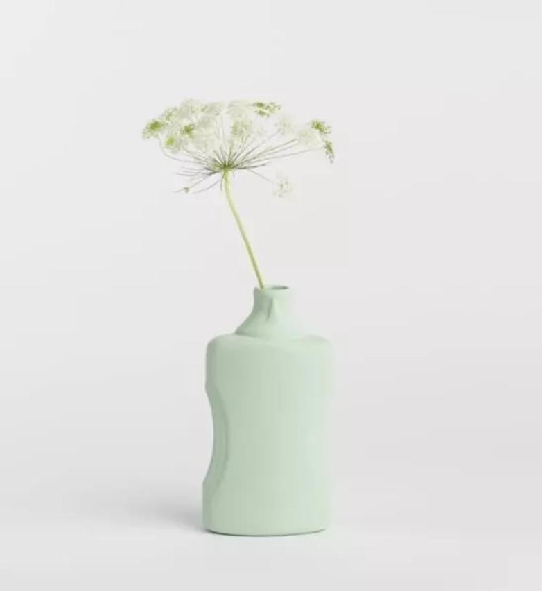 Porseleinen Flesvaas Munt #21  - Foekje Fleur-1