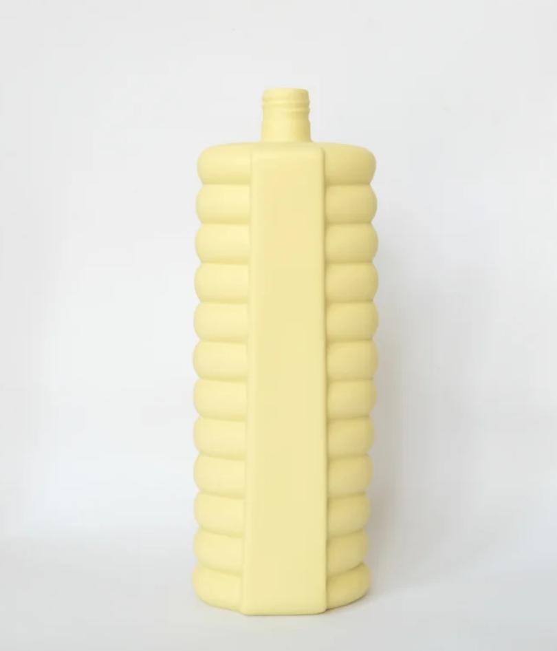 Porseleine Flesvaas Geel #10 yellow - Foekje Fleur-1