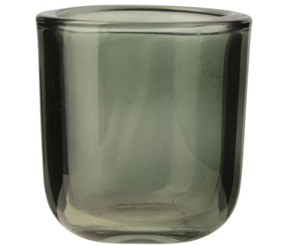 Glazen theelichthouder Groen -  Gusta-1