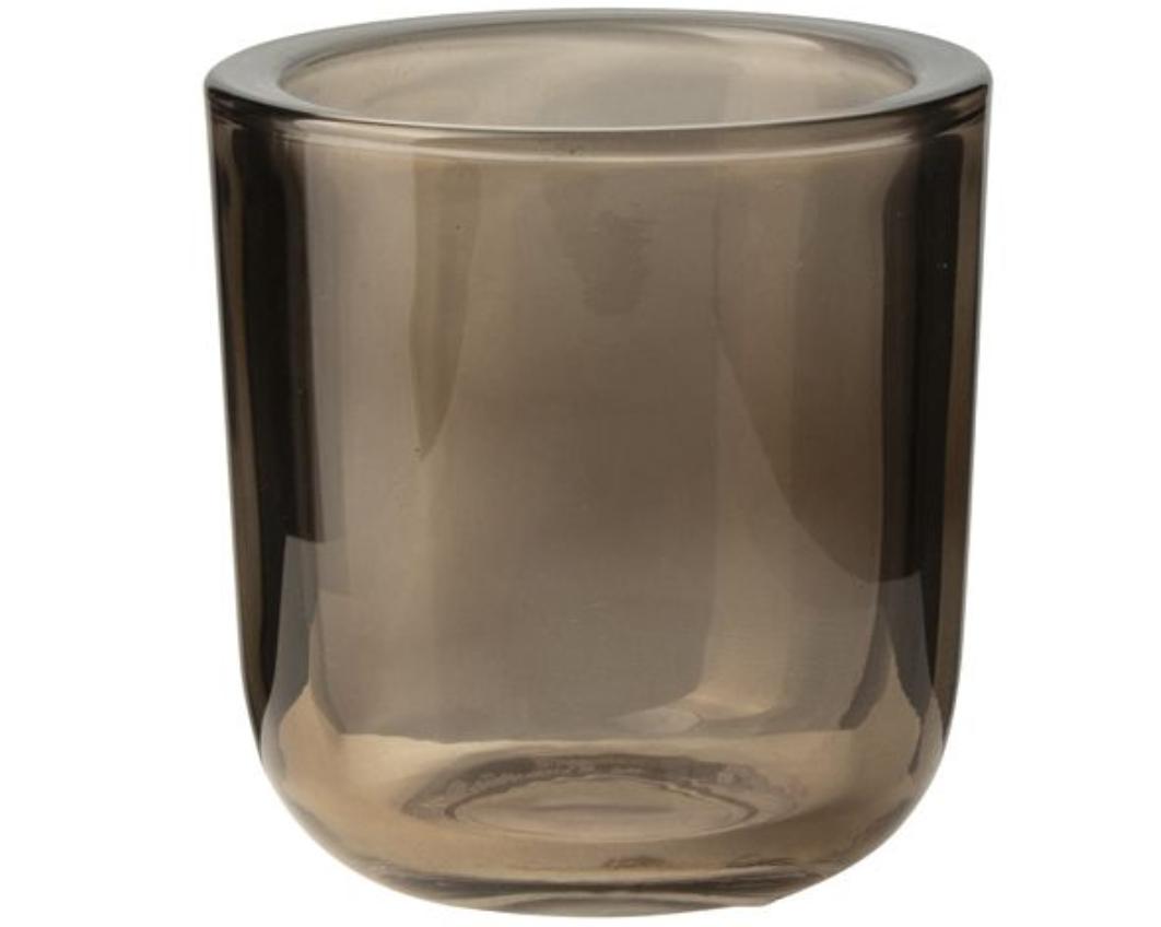 Glazen theelichthouder Bruin - Gusta-1