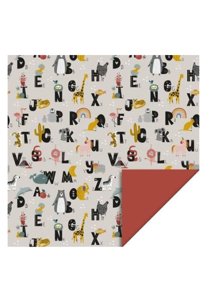 Double Sided Wrapping Paper Alphabet
