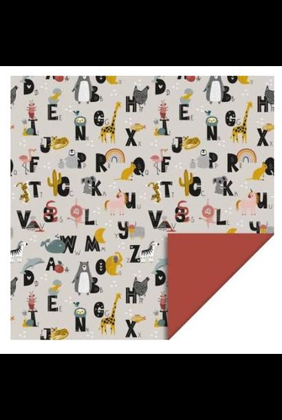 Dubbelzijdig Inpakpapier Alfabet