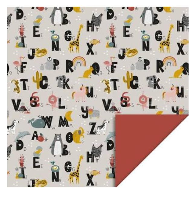 Dubbelzijdig Inpakpapier Alfabet - House Of Products-1
