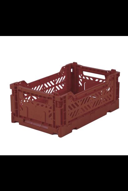 Folding Crate Dark Red - Medium